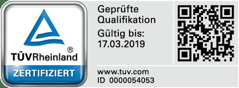 TÜV-Zertifikat Sachverständigenbüro Dipl.-Ing. Dirk Bey